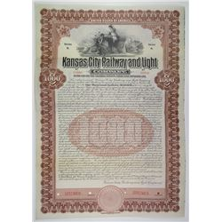 Kansas City Railway and Light Co. 1907 Specimen Bond