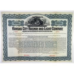 Kansas City Railway and Light Co. 1903 Specimen Bond