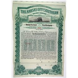 Kansas City Southern Railway Co. 1900 Specimen Bond