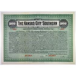 Kansas City Southern Railway Co. 1912 Specimen Bond Rarity