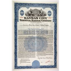 Kansas City Terminal Railway Co. Specimen Bond