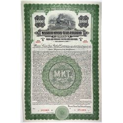 Missouri-Kansas-Texas Railroad Co., 1922 Specimen Bond Trio.
