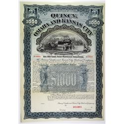 Quincy, Omaha and Kansas City Railroad Co. 1897 Specimen Bond