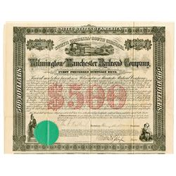 Wilmington and Manchester Railroad Co., 1866 Issued Bond