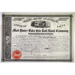 Mad River & Lake Erie Rail-Road Co., 1859 I/U Bond