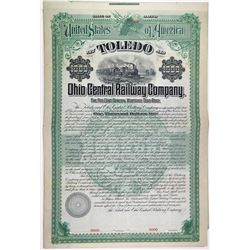 Toledo & Ohio Central Railway Co. 1894 Specimen Bond