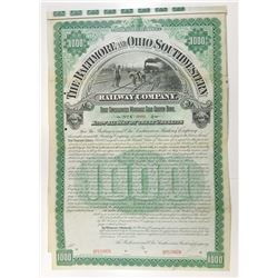 Baltimore and Ohio Southwestern Railway Co., 1893 Specimen Bond.