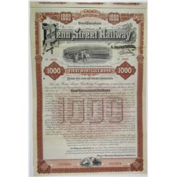 Penn Street Railway Co., 1892 Specimen Bond Rarity