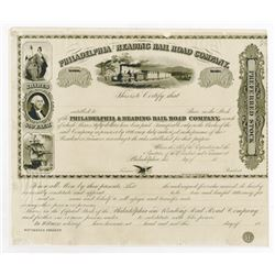 Philadelphia & Reading Rail Road Co., ca.1830-1850 Proof Stock Certificate