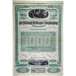 Pittsburgh, McKeesport & Youghiogheny Railroad Co., 1883 Specimen Bond