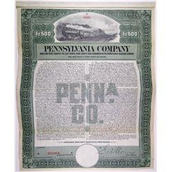 Pennsylvania Co., 1906 Specimen Bond Rarity