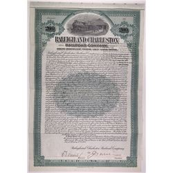 Raleigh & Charleston Railroad Co., 1906 I/U Bond Pair