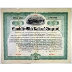 Knoxville & Ohio Railroad Co., 1903 Specimen Bond