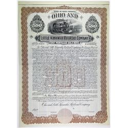 Ohio & Little Kanawha Railroad Co. 1900 Specimen Bond Rarity