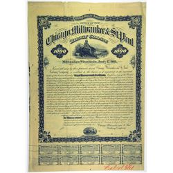 Chicago, Milwaukee & St. Paul Railway Co., 1881 Specimen Bond Rarity