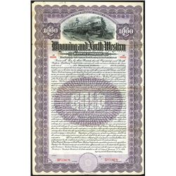 Wyoming and North Western Railway Co.,1906 Specimen Bond.
