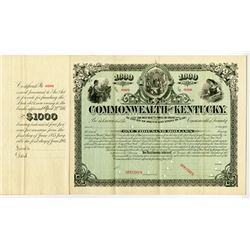 Commonwealth of Kentucky, 1885 Specimen Bond.