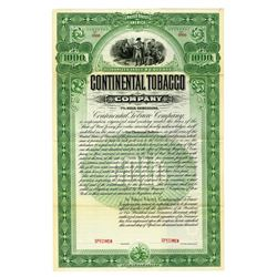 Continental Tobacco Co., 1900 Specimen Bond