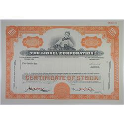 Lionel Corp., ca.1950-1960 Specimen Stock Certificate