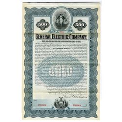 General Electric Co., 1902 Historic Specimen Bond Rarity