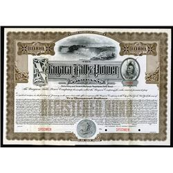 Niagara Falls Power Co., 1909 Specimen Bond