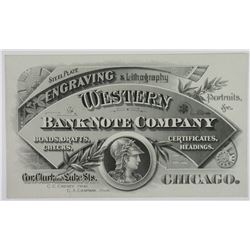 Western Bank Note Company, ND (ca.1870-90's) Advertising Trade Card