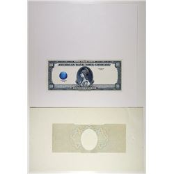 American Bank Note Co., 1929 (ca. 1970s), Extremely Early Version of a Hologram on Banknote.