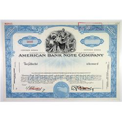 American Bank Note Co.1940-50's Specimen Stock Certificate