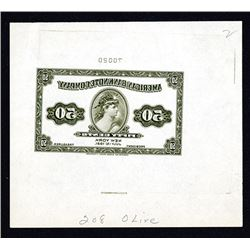 American Bank Note Company 1921 Mirror Image Advertising Banknote