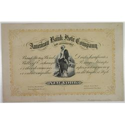 American Bank Note Company, ND (ca.1860-70's) Advertising Trade Card.