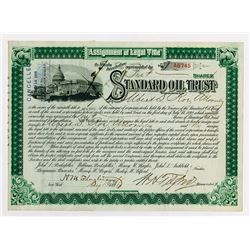 Standard Oil Trust, 1896 Stock Certificate Signed by Flagler.