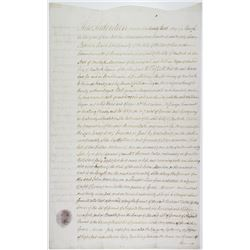 Early Wall Street and Bank of New York Related Deed Dated 1785 and Signed By Isaac Cox, John Ramsay