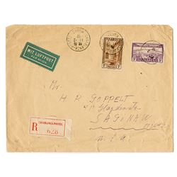 Casablanca Envelope, 1939 with Judaica Connection