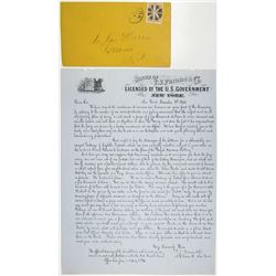T.J. Furniss & Co. Letter about the Royal Havana Lottery of 1866
