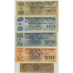 Honduras National Lottery Co. - Louisiana State Lottery Ticket & Ephemera Assortment, ca.1894 to 190