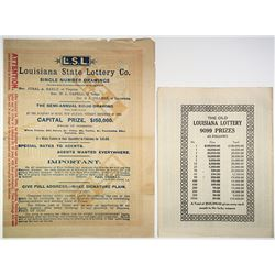 Louisiana State Lottery Ticket & Ephemera Assortment, ca.1878 to 1894