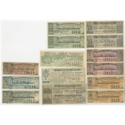 Original Little and Beneficencia Publica at the City of Mexico Ticket Assortment, ca.1889 to 1893.