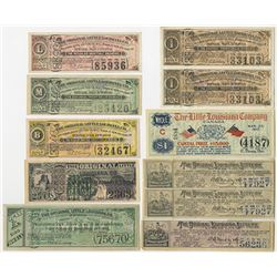 Original Little and Original Louisiana Lottery Ticket Assortment, ca.1885 to 1920.