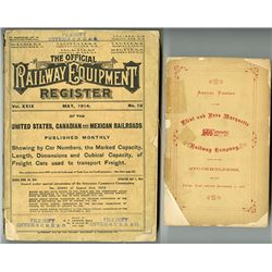 Official Railway Equipment Register for 1914 and Flint and Pere Marquette 1868 Annual Report.