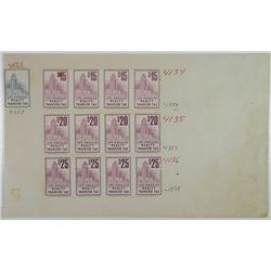 Los Angeles Realty Transfer Tax Proof Stamps, ca.1960-70's by Jeffries BNC.