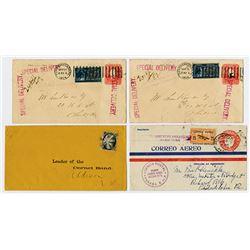 U.S. & Panama Postal History Quartet, Circ 1860 to 1929.