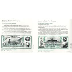 ABNC City Council of Brunswick, Georgia, Proof and Error Proof Souvenir Cards. (2)