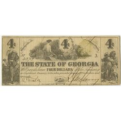 State of Georgia 1864 Banknote.