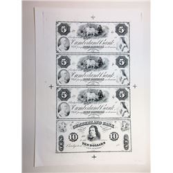 Bridgeton, Cumberland Bank, $5-5-5-10  ABN Proprietary Proof Sheet Unlisted in Haxby