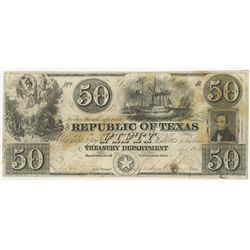 Republic of Texas, 1840's, Issued Obsolete Banknote.