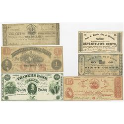Virginia Obsolete Scrip Note and Banknote Sextet.