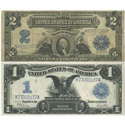 U.S. Silver Certificate, Pair of 1899 Notes.