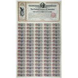 1898 Spanish American War $20 3.00% Coupon Bond