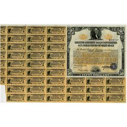 United States of America. Acts of September 24, 1917, Amended April 4, 1918. $50, 4 1/4% Second Libe