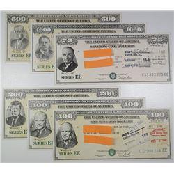 U.S. Savings Bond, Series EE, 1981-1983 Bond Assortment.